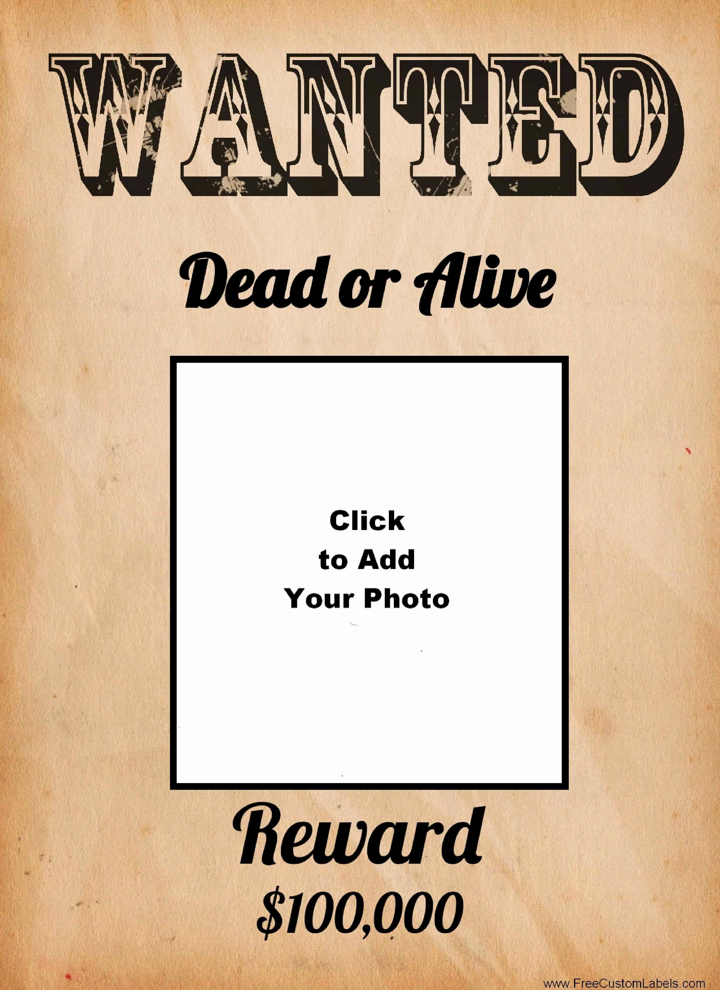 Make A Wanted Poster Awesome Free Wanted Poster Maker