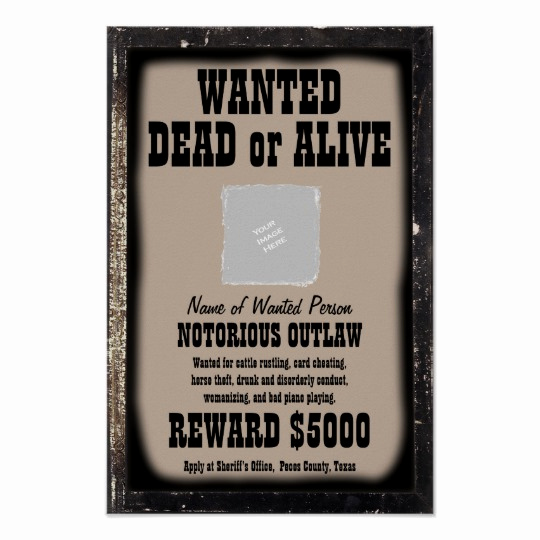 Make A Wanted Poster Beautiful Wanted Poster Make Your Own Customized