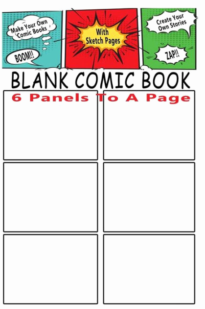 Make Your Own Cookbook Template Awesome Blank Ic Book 6 Storyboard Panels to A Page Make Your