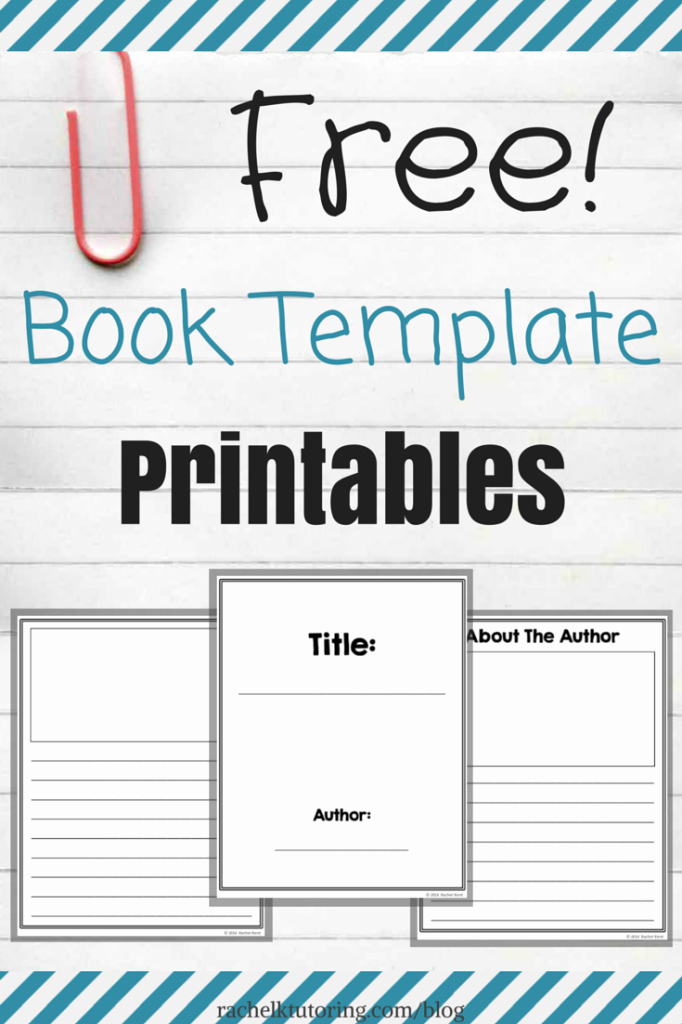 Make Your Own Cookbook Template Fresh Free Book Template Printables Rachel K Tutoring Blog
