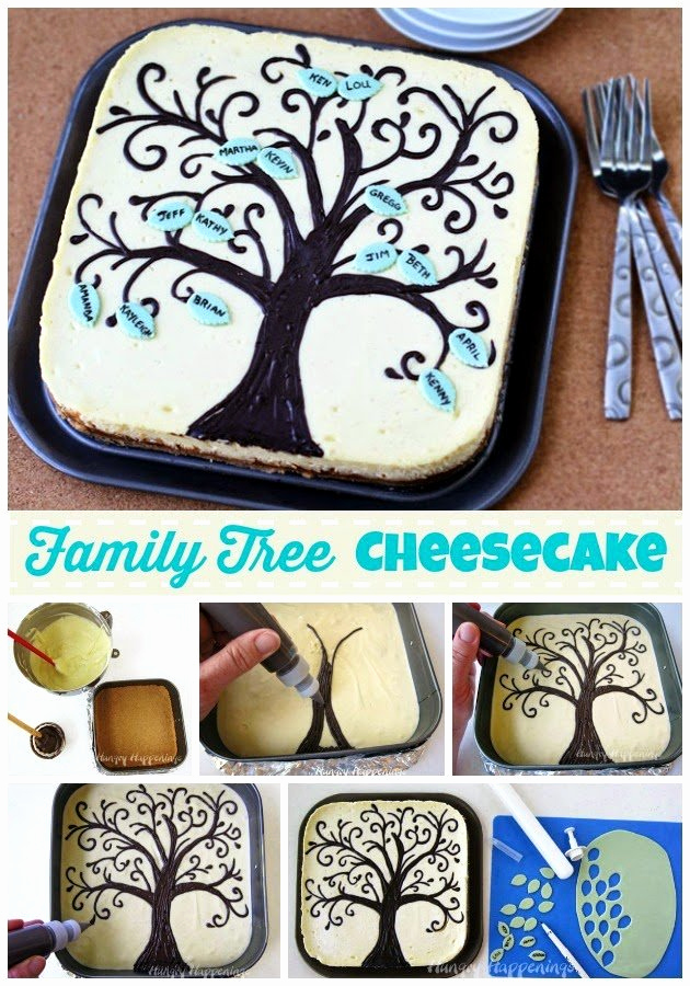 Make Your Own Family Tree Fresh Family Tree Cheesecake Hungry Happenings Recipes