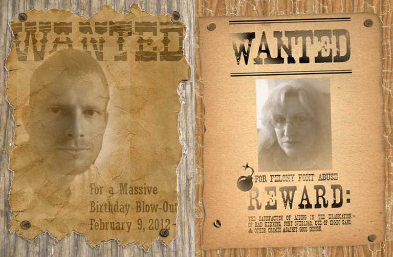 Make Your Own Wanted Poster Awesome Make A Wanted Poster with Free Fonts and Tutorials
