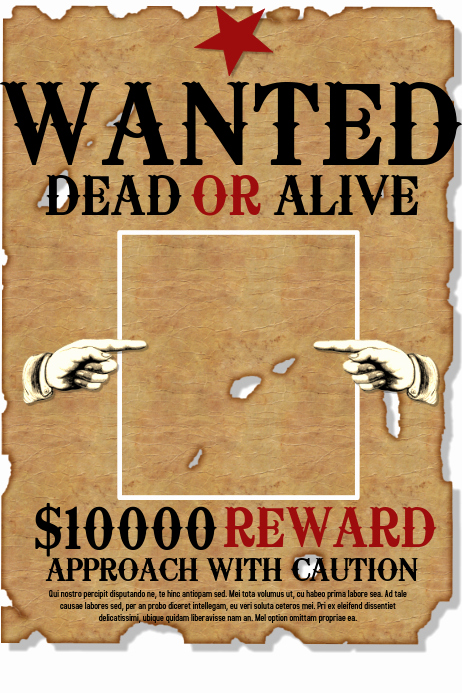 Make Your Own Wanted Poster Elegant Wanted Template