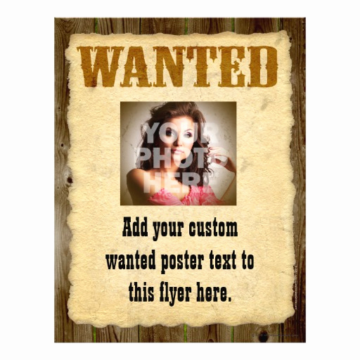 Make Your Own Wanted Poster Lovely Wanted Poster Vintage Picture Frame Flyer