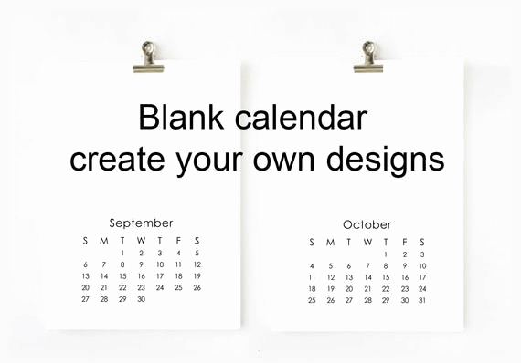 Making A Calendar Free Awesome 2018 Blank Calendar Printable Digital File Create Your