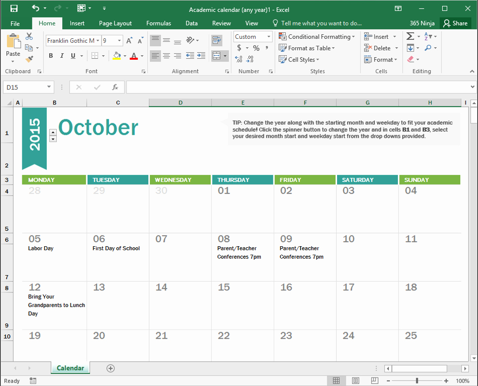 Making A Calendar Free Best Of How to Create A Calendar In Excel Bettercloud Monitor
