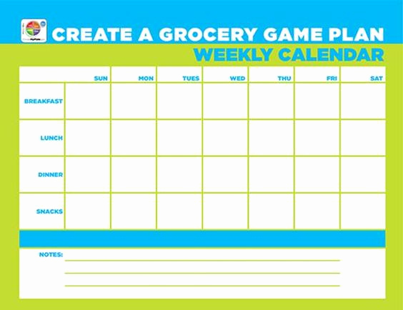 Making A Calendar Free Unique Free Worksheet Create A Grocery Game Plan Weekly