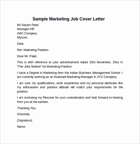 Marketing Cover Letter Examples Best Of Cover Letter Example for Job 10 Download Free Documents