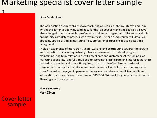 Marketing Cover Letter Examples Luxury Marketing Specialist Cover Letter