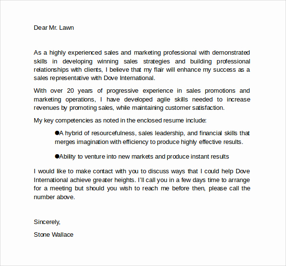 Marketing Cover Letter Sample Beautiful 10 Marketing Cover Letter Template Examples to Download