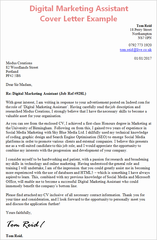 Marketing Cover Letter Sample Best Of Cover Letter Template Digital Marketing Cover