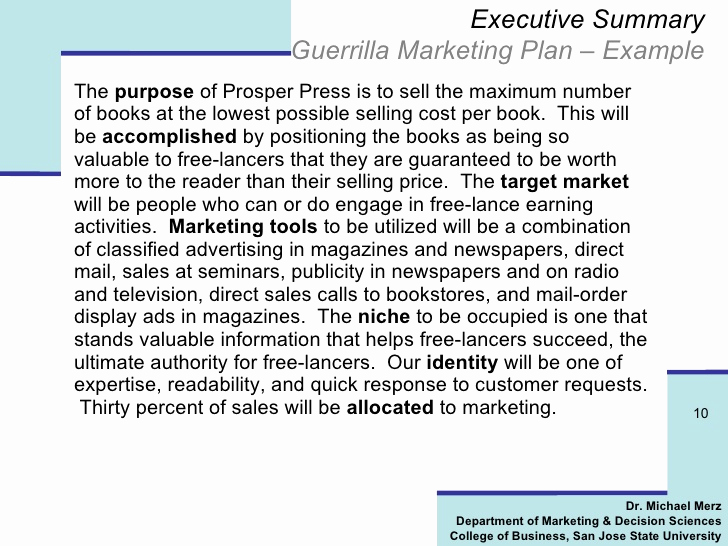 Marketing Plan Executive Summary Best Of How to Write A Killer Marketing Plan