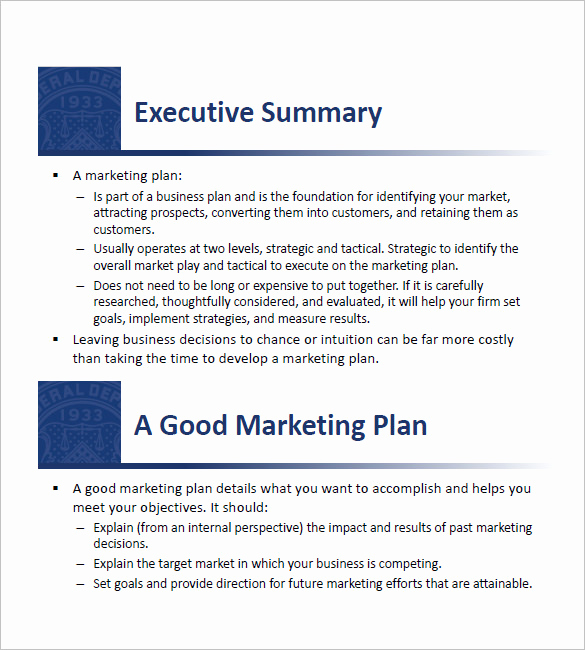 Marketing Plan Template Pdf Awesome 11 Small Business Marketing Plan Templates Doc Pdf
