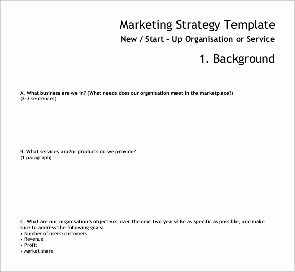 Marketing Plan Template Pdf Best Of Marketing Strategy Templates 20 Pdf Word format