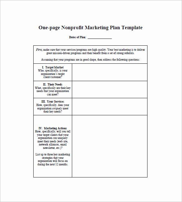 Marketing Plan Template Pdf Luxury E Page Marketing Plan Template – 16 Free Sample