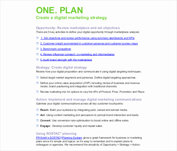 Marketing Plan Template Pdf New Digital Marketing Strategy Template 12 Word Excel Pdf