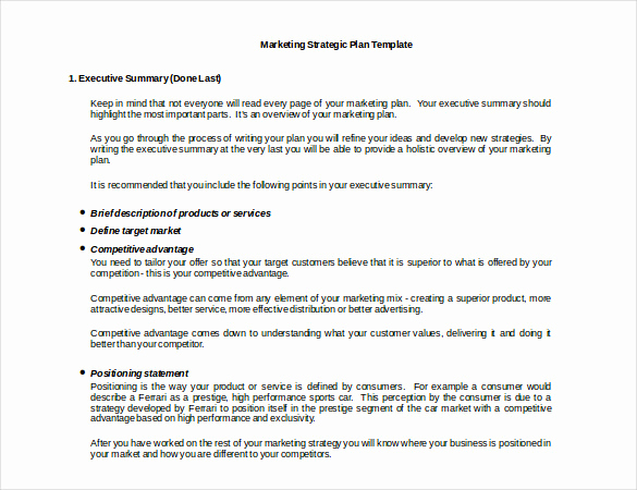 Marketing Plan Template Pdf New Marketing Strategy Templates 20 Pdf Word format