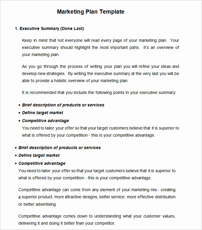 Marketing Plan Template Word Awesome Strategic Marketing Plan Template 9 Free Word Pdf