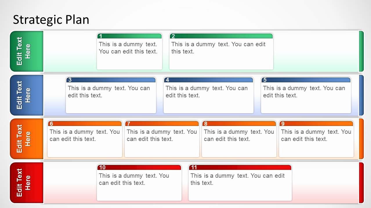 Marketing Plan Template Word Fresh Basic Strategic Plan Template for Powerpoint Slidemodel