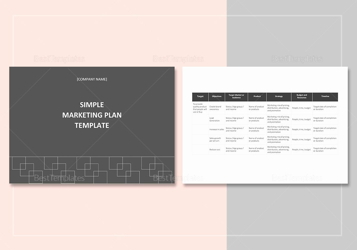 Marketing Plan Template Word Fresh Simple Marketing Plan Template In Word Google Docs Apple