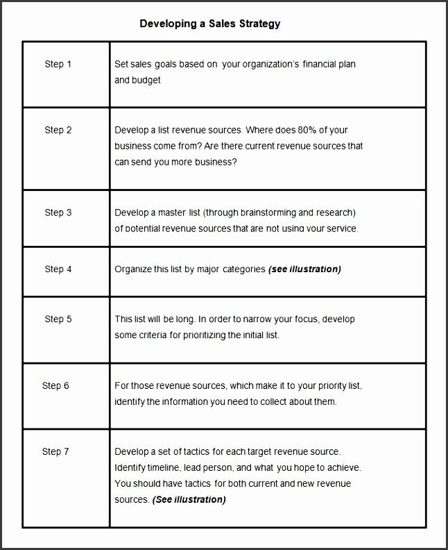 Marketing Plan Template Word Luxury 9 Marketing Sales Plan Template Sampletemplatess