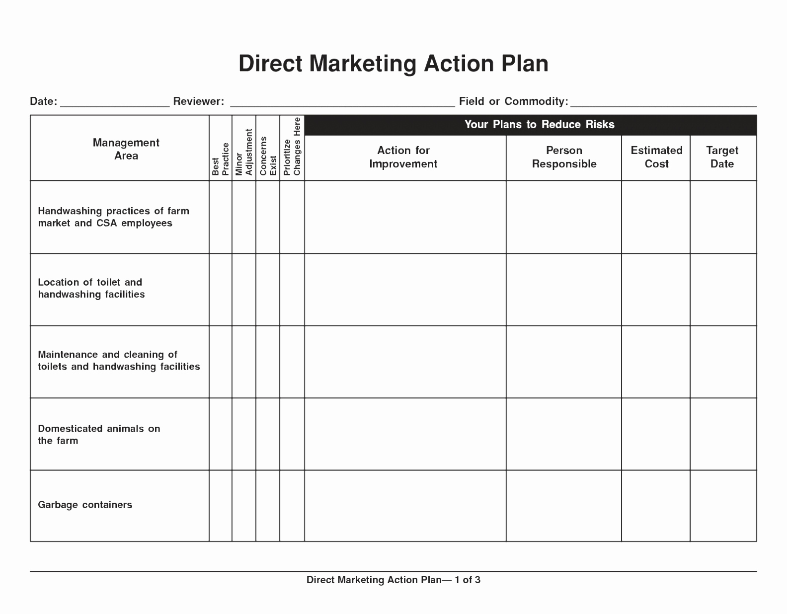 Marketing Plan Template Word New 10 Sales and Marketing Action Plan Template Yoran