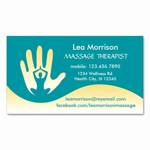 Massage therapist Business Cards Beautiful 305 Best Massage Business Cards Images On Pinterest