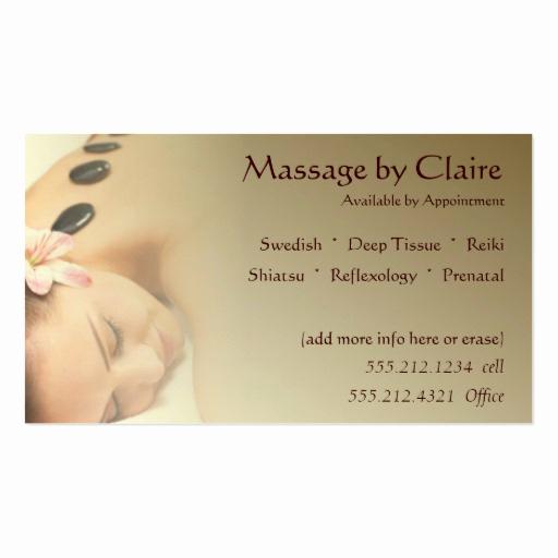 Massage therapist Business Cards Beautiful Massage therapy Business Card