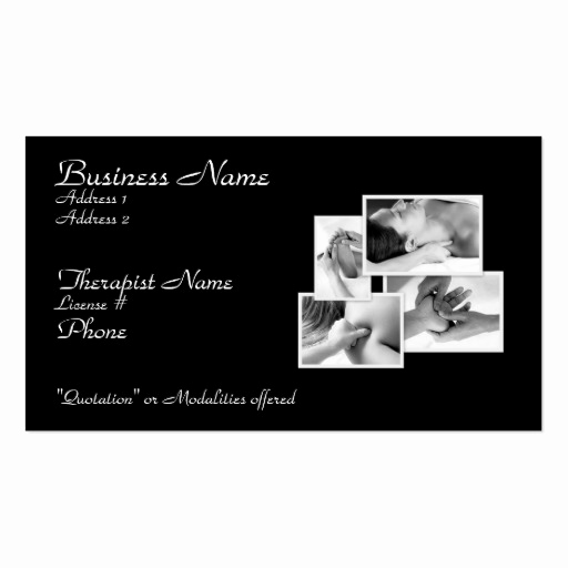 Massage therapist Business Cards Best Of Massage therapy Appointment Business Card