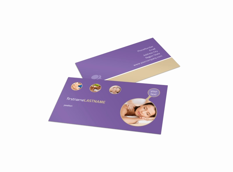Massage therapist Business Cards Best Of Massage therapy Business Card Template