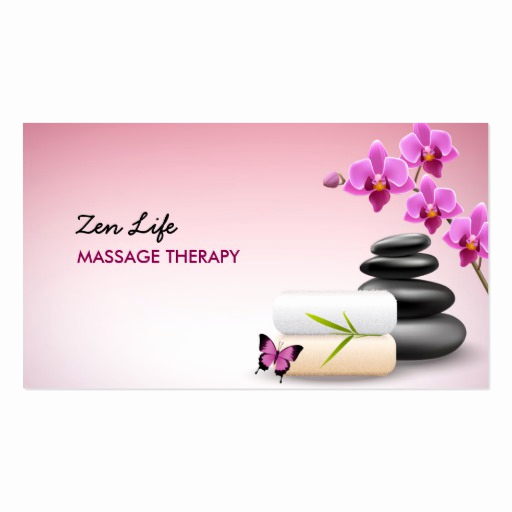Massage therapist Business Cards Fresh Massage therapy Business Card