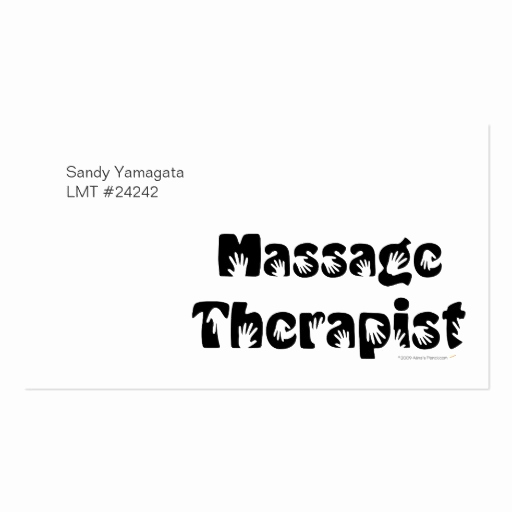Massage therapist Business Cards Inspirational Massage therapist Business Cards Template