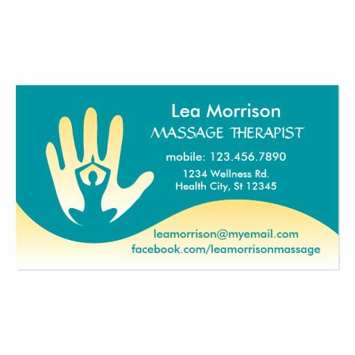 Massage therapist Business Cards Inspirational Modern Massage therapist Business Card
