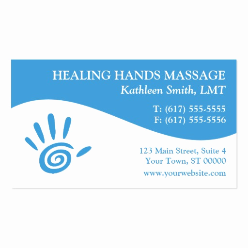 Massage therapist Business Cards Lovely Massage therapy Business Cards