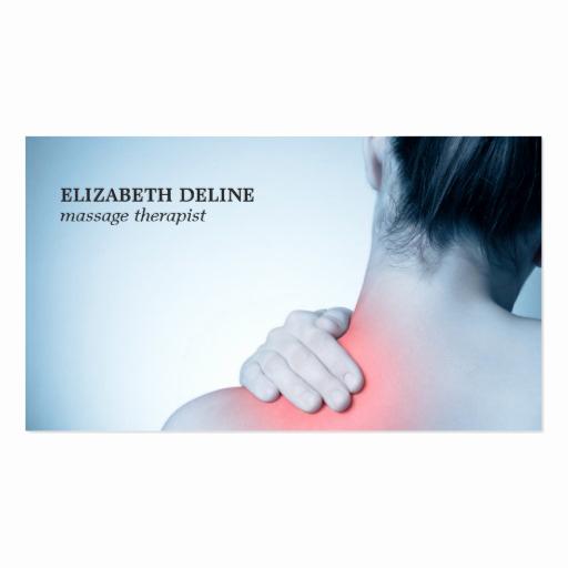 Massage therapist Business Cards Luxury Modern Elegant Massage therapist Business Card