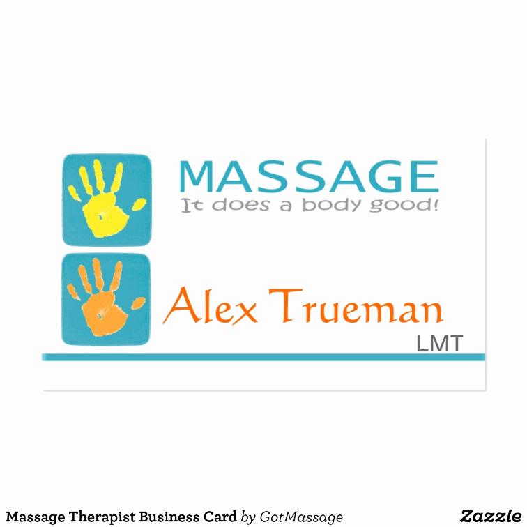 Massage therapist Business Cards Unique Massage therapist Business Card