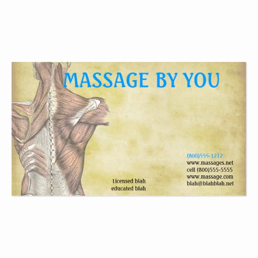 Massage therapist Business Cards Unique Massage therapist Business Card Template