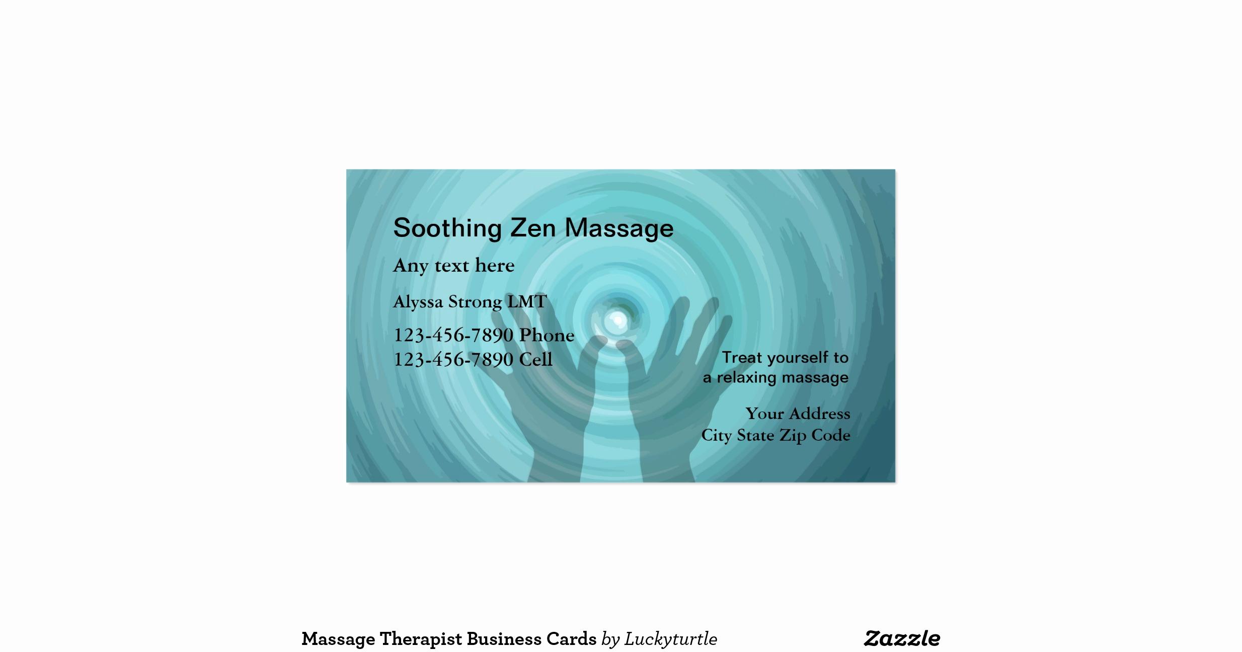 Massage therapist Business Cards Unique Massage therapist Business Cards