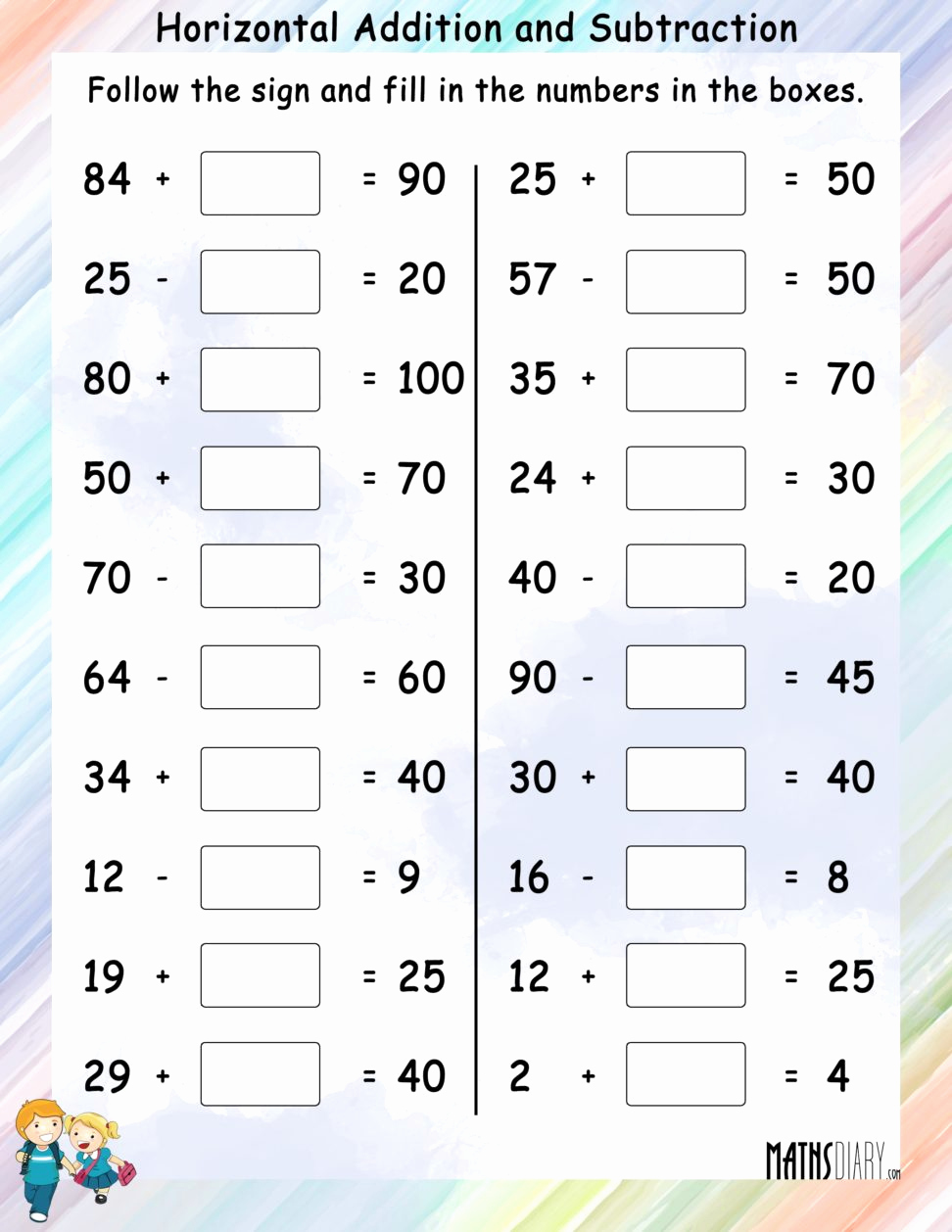 Math Addition and Subtraction Worksheets Beautiful Maths Worksheets Addition and Subtraction Worksheet