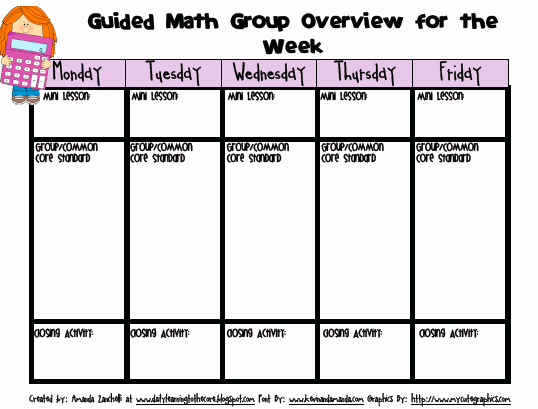 Math Lesson Plan Template Elegant Guided Math Part 1 Getting Started Learning to the Core