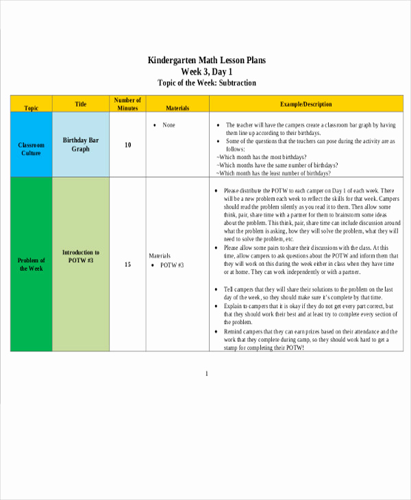Math Lesson Plan Template Inspirational 40 Lesson Plan Templates