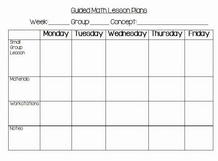 Math Lesson Plan Template Lovely Guided Math Chapter 6