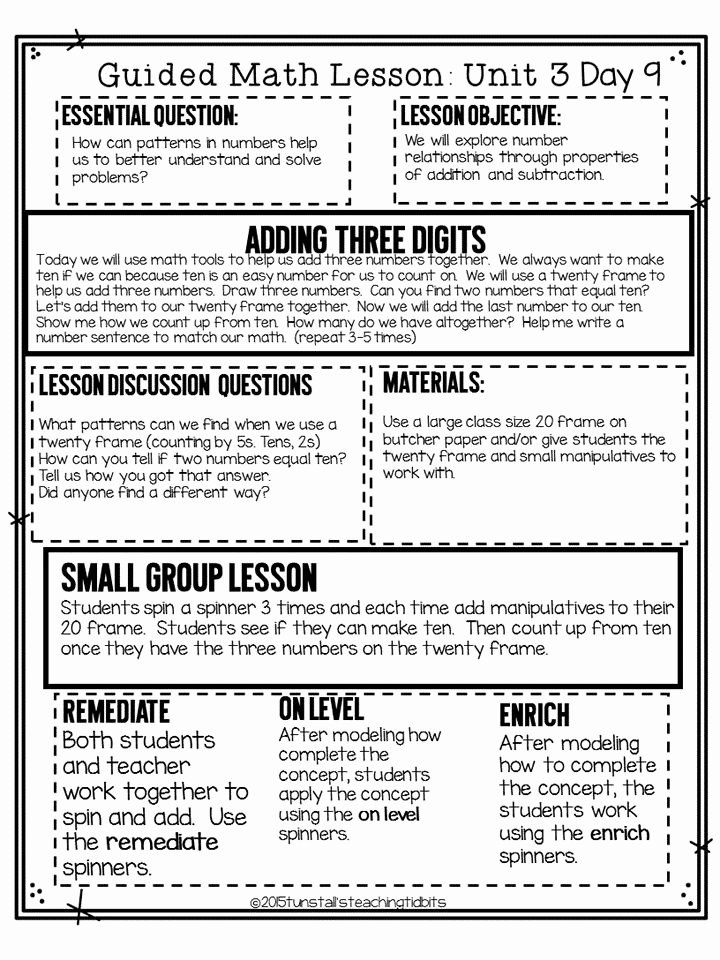 Math Lesson Plan Template Unique 176 Best Guided Math Images On Pinterest