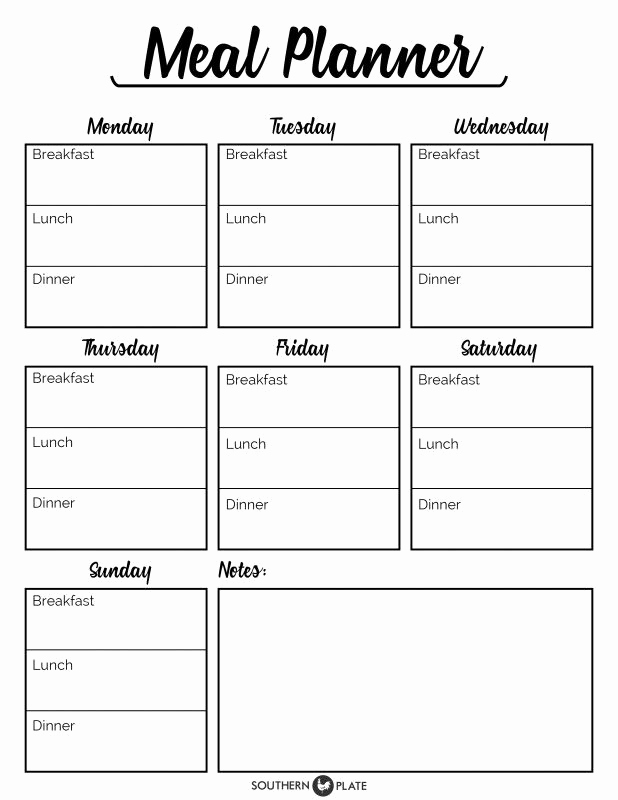 Meal Plan Template Pdf Awesome I M Happy to Offer You This Free Printable Meal Planner