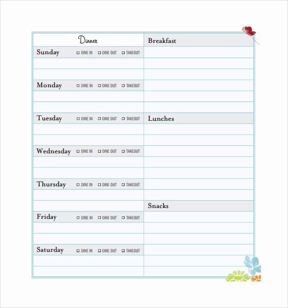 Meal Plan Template Pdf Beautiful 18 Meal Planning Templates Pdf Excel Word