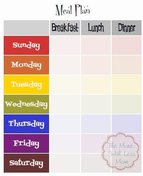 Meal Plan Template Pdf Beautiful Rainbow Retro Mid Century Free Weekly Meal Plan Printable