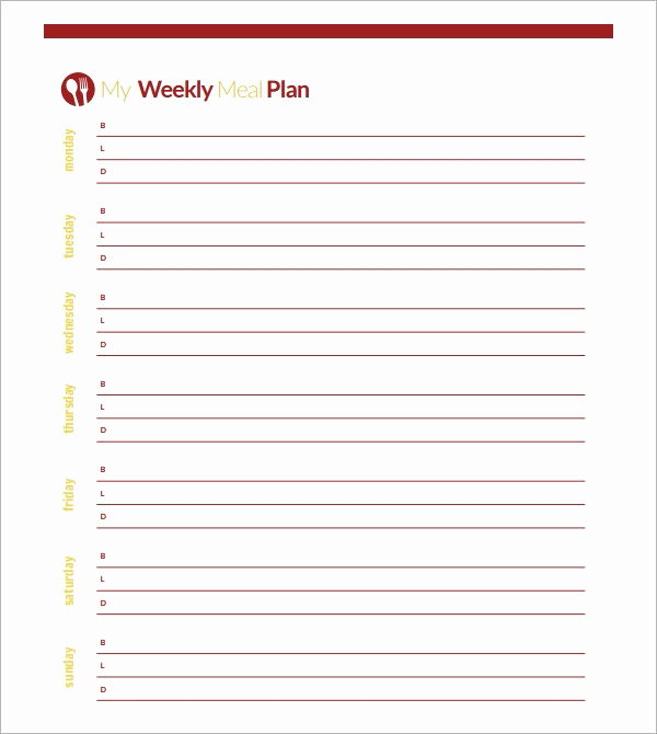 Meal Plan Template Pdf Best Of 18 Meal Planning Templates Pdf Excel Word