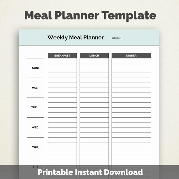 Meal Plan Template Pdf Fresh Weekly Meal Planner Template Printable Pdf by Selecttemplates