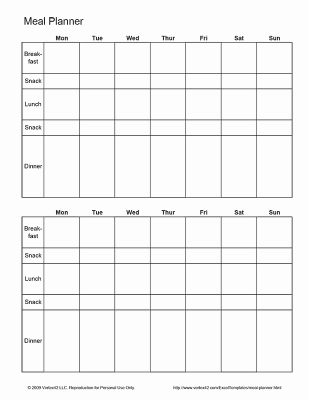 Meal Plan Template Pdf New 25 Unique Meal Planner Template Ideas On Pinterest