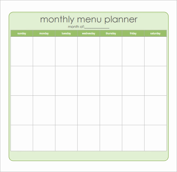 Meal Plan Template Word Awesome 18 Meal Planning Templates Pdf Excel Word